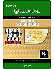 Grand Theft Auto Online - GTA V Whale Shark Cash Card | 3,500,000 GTA-Dollars | Xbox One - Código de descarga