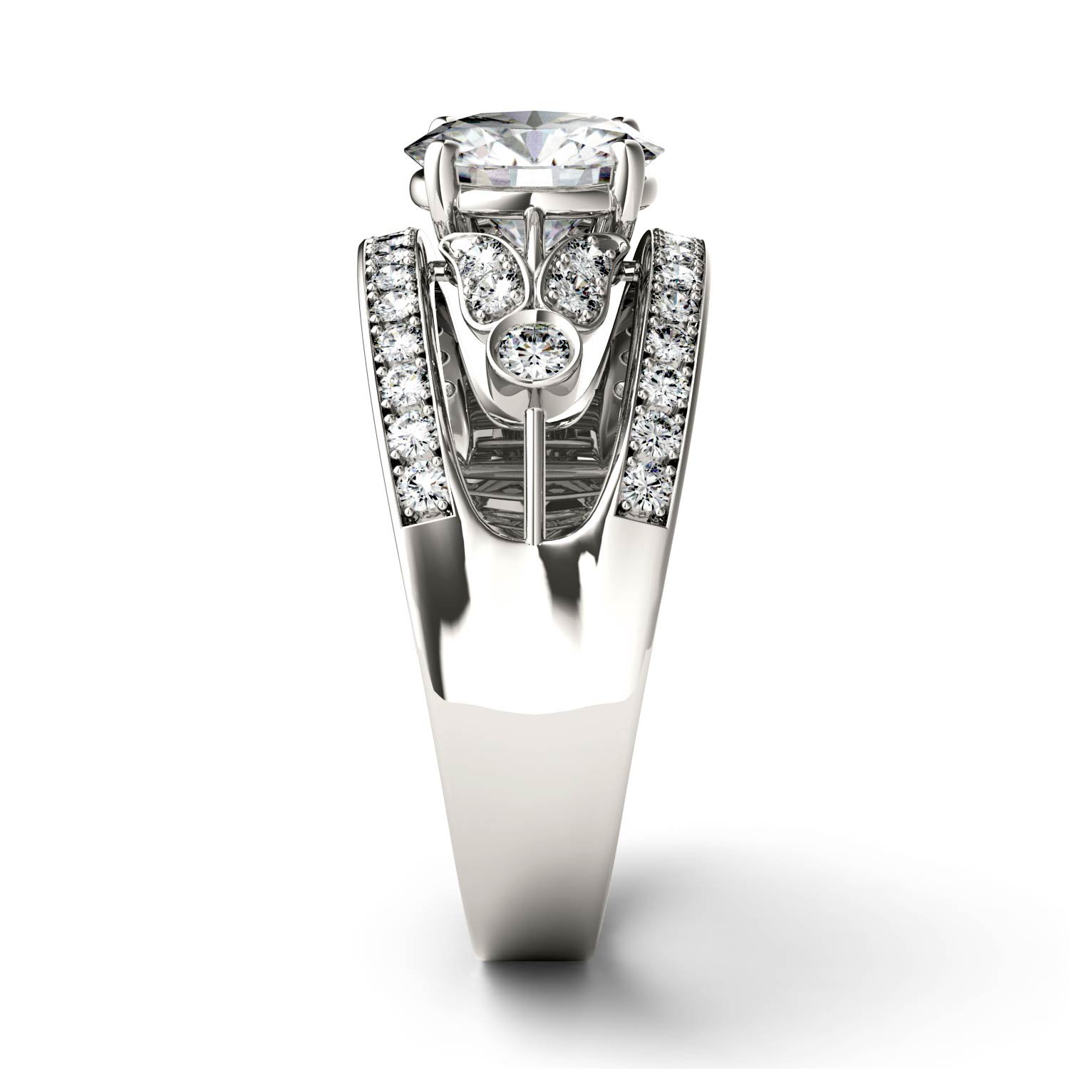 Forever Brilliant Round 7.5mm Moissanite Ring-size 7, 1.91cttw DEW By Charles & Colvard by Charles & Colvard (Image #5)