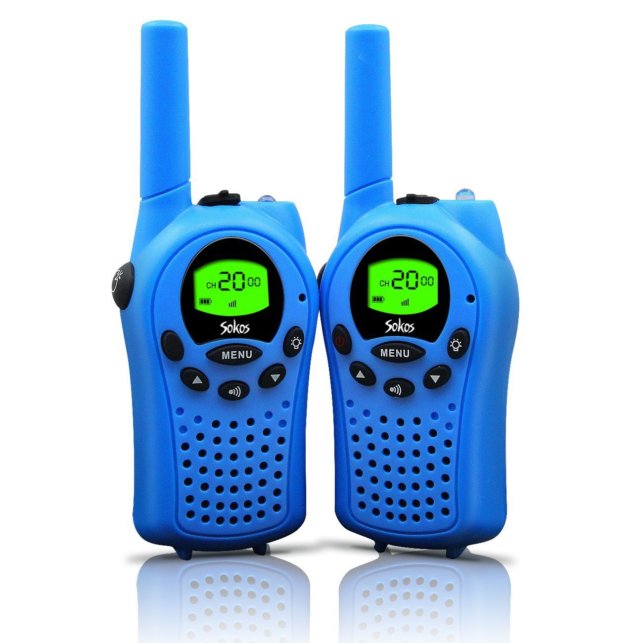 a pair of walkie talkie in blue color for boys