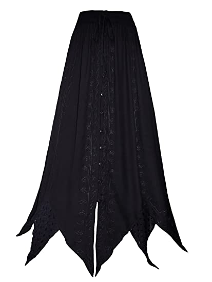 952b838fbd690 AEON Long Black Pointy Skirt 10 12 14 16 18 20 22 24 26 28 30 32 34 ...