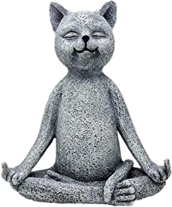 for Patio Backyard Lawn Balcony,Meditation Zen Frog Garden Statues,Resin Animals Statues Yoga Figurines Yard Art Cat Dog Outdoor Statue,Frog Garden Figures Sculptures Ornaments-A 13x5.5x9.5cm(5x2x3.7i