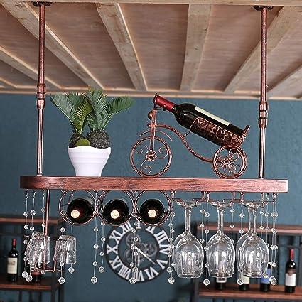Jinxin Estante de Vino Portavasos de Vino Restaurante en casa Bar Bar de Madera Maciza Estante