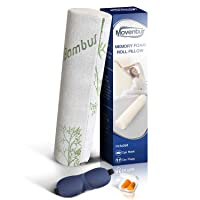 Bamboo Neck Roll Pillow for Sleeping and Cervical Roll Pain Relief - Round Bolster...