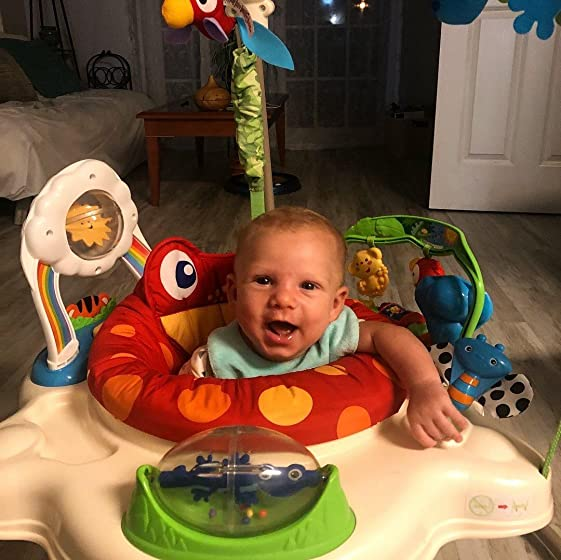 Fisher-Price Rainforest Jumperoo Great interactive toy for my energetic 3 1/2 month old