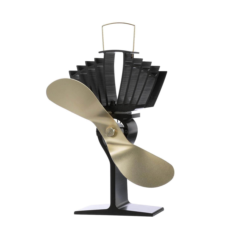 ECOFAN 812AMXBX AirMax Large Heat Powered Wood Stove Fan, Made in Canada, Black Caframo