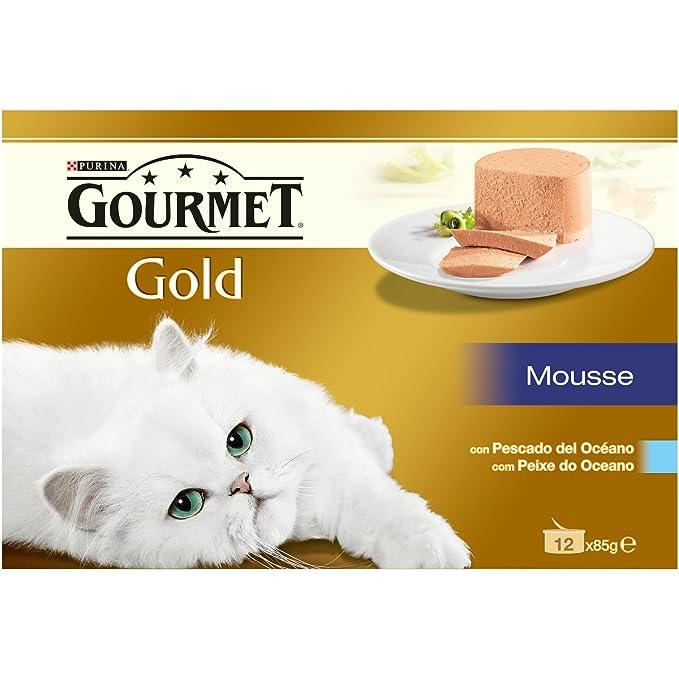 Purina Gourmet Gold Mousse comida para gatos de Pescado del ...