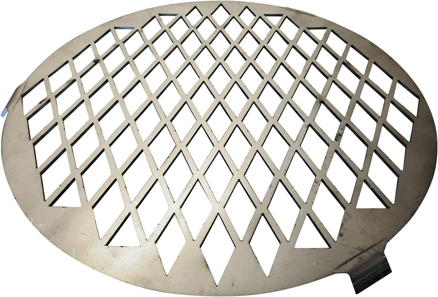 """Vortex Direct Sear Grill Grate Accessory for Medium BBQ Vortex Charcoal Cone; Fits 18.5 22.5 26.5 Weber, WSM, Kettle, UDS - Stainless - USA Made Genuine 12"""" Round (12in Grate for Med Vortex)"""