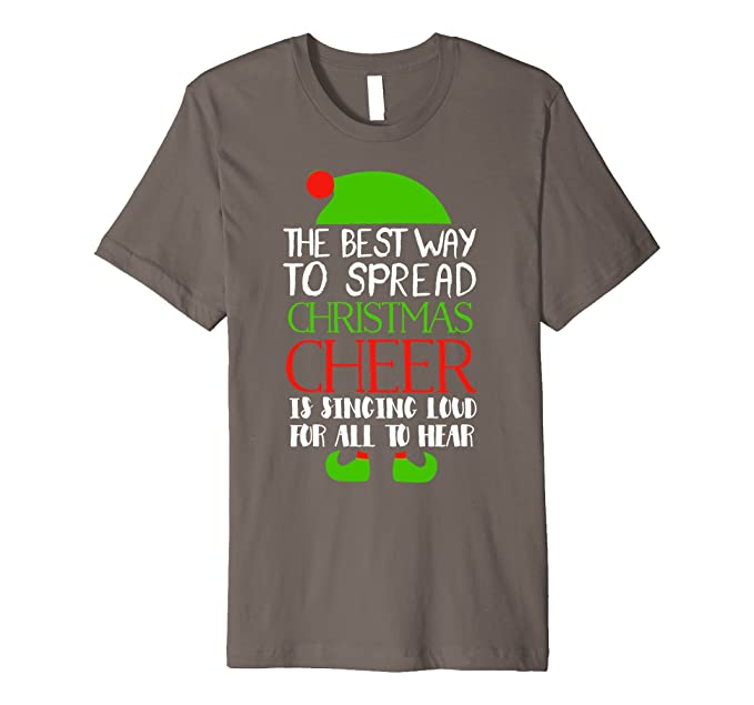 mens the best way to spread christmas cheer elf t shirt 2xl asphalt