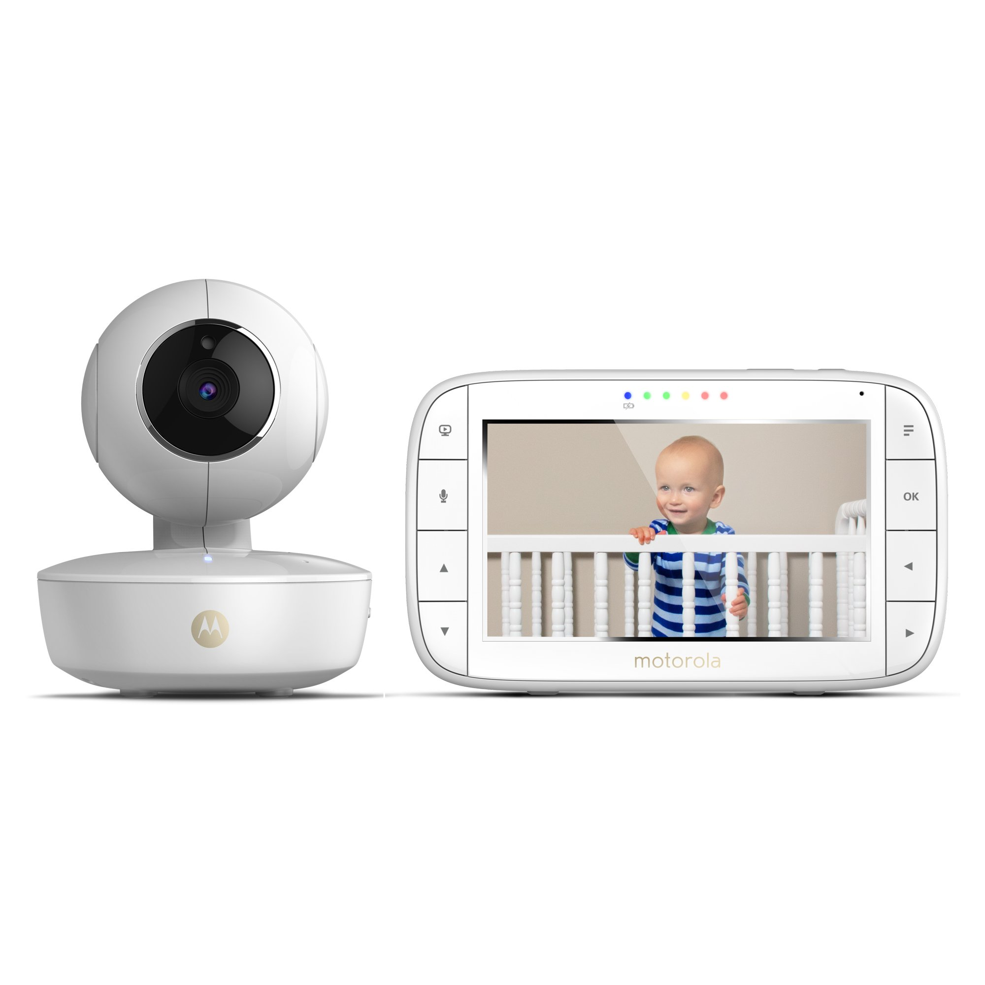 "Motorola MBP36XL Video Baby Monitor Pan/Tilt/Zoom 5"" Color Screen with Portable Rechargeable Camera"