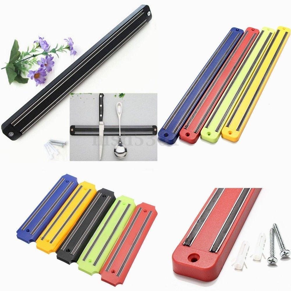 Kitchen Organizer - 13'' Kitchen Wall-Mounted Magnetic Knife Chef Rack Holder Shelf Strip Kitchen Tool