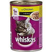 طعام قطط بنكهة الدجاج المفروم من ويسكاس - 400 غرام