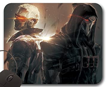 Mousepad Soldier 76 And Reaper Overwatch Mouse Mat Amazon Co Uk