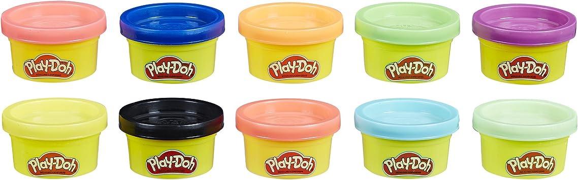 Play-Doh, multicolor, Pack 10 Mini Botes (Hasbro 22037EN2) , color ...