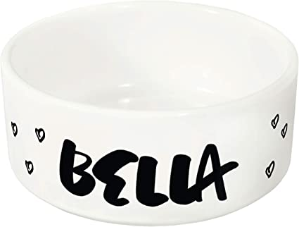 Personalized Ceramic Dog /& Cat Bowl