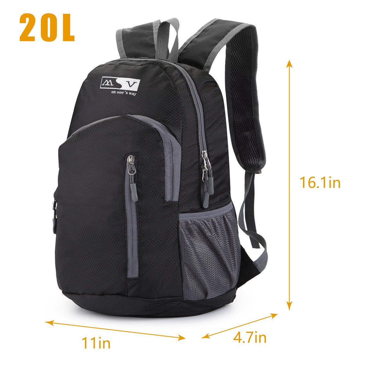 Amazon.com   Lightweight Backpack TryAce Traveling Hiking Backpack with  Men Women Folding Daypack for Outdoor Biking Camping (Black)   Sports    Outdoors 0f28dc6353