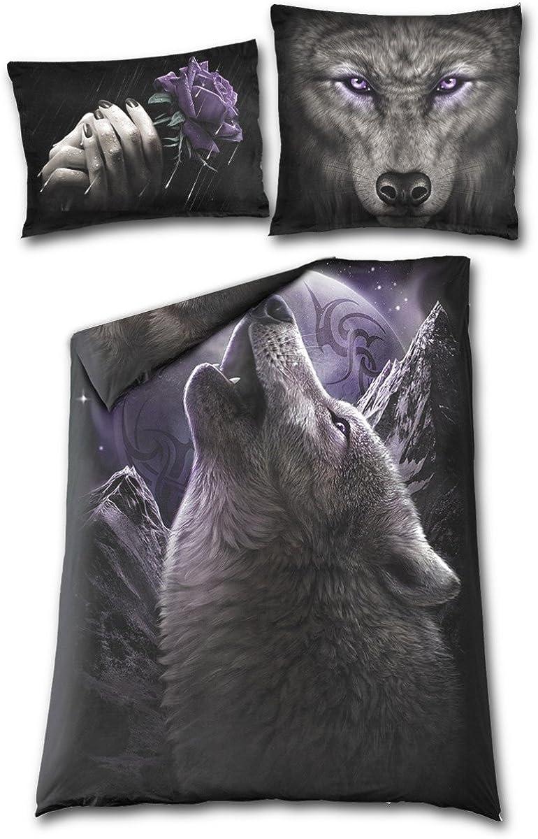 Spiral Wolf Spirit Single Duvet Cover