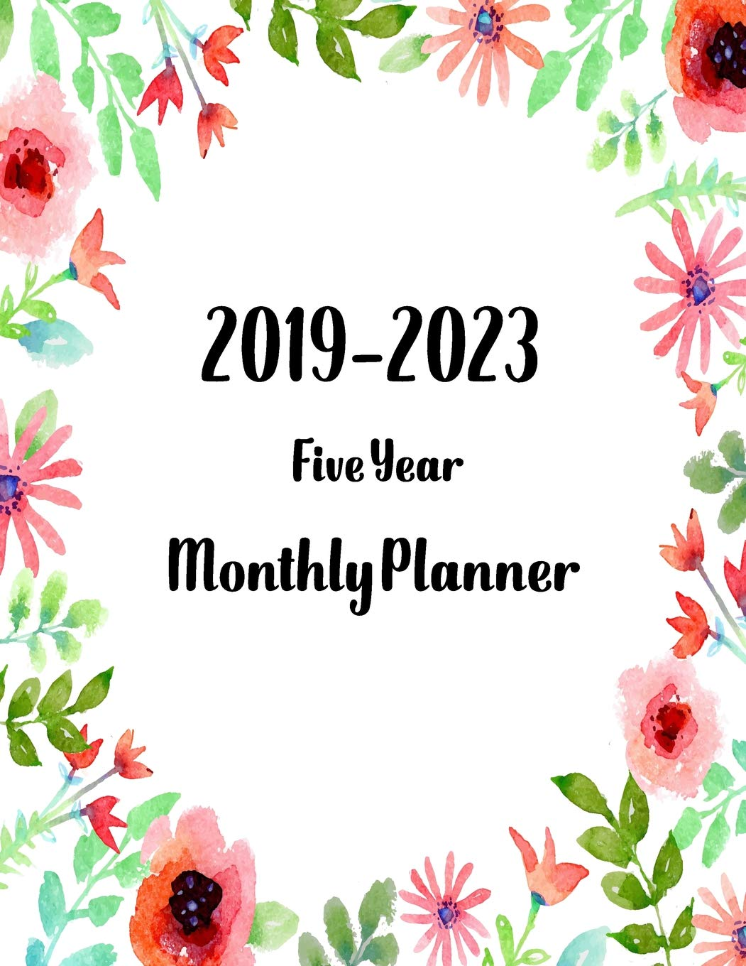 2019-2023 five year monthly planner: Calendar january 2019 ...
