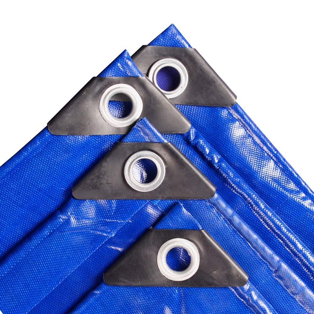 LXLA- Wasserdichte Plane mit Ösen verdicken, Mehrzweck-Regenschutzplanen, Sonnenschutz-Shad-Zelt - 400g   m², Blau (größe   5m x 6m)