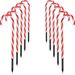Christmas Candy Cane Lights Set of 10 Christmas Candy Cane Pathway Markers Christmas Indoor Outdoor Decoration