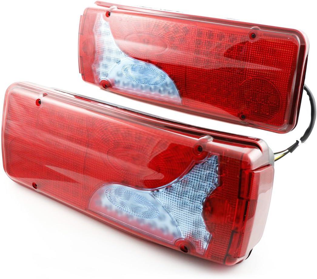 Lot de 2 feux arri/ère LED 24 V TGA TGM TGL TGS pour camion remorque