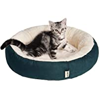 Tempcore Cat Bed for Indoor Cats Brown,20inch Pet Bed for Cats or Small Dogs,Anti-Slip & Water-Resistant Bottom,Green