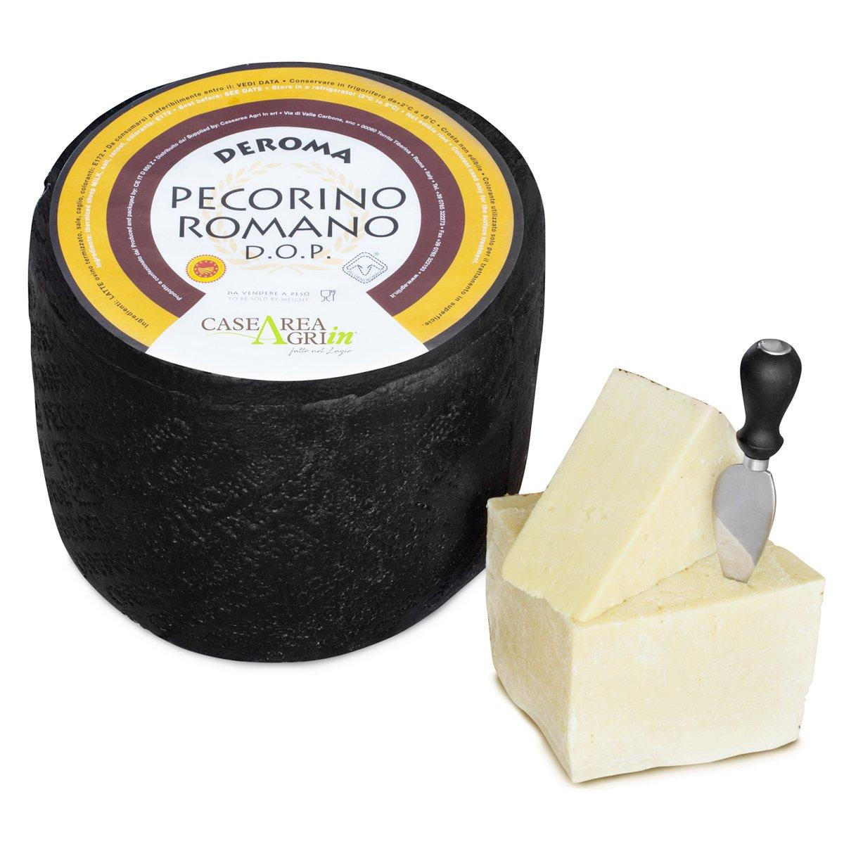 Pecorino Romano Italian Cheese DeRoma Agri-in D.O.P. 2.5 pound