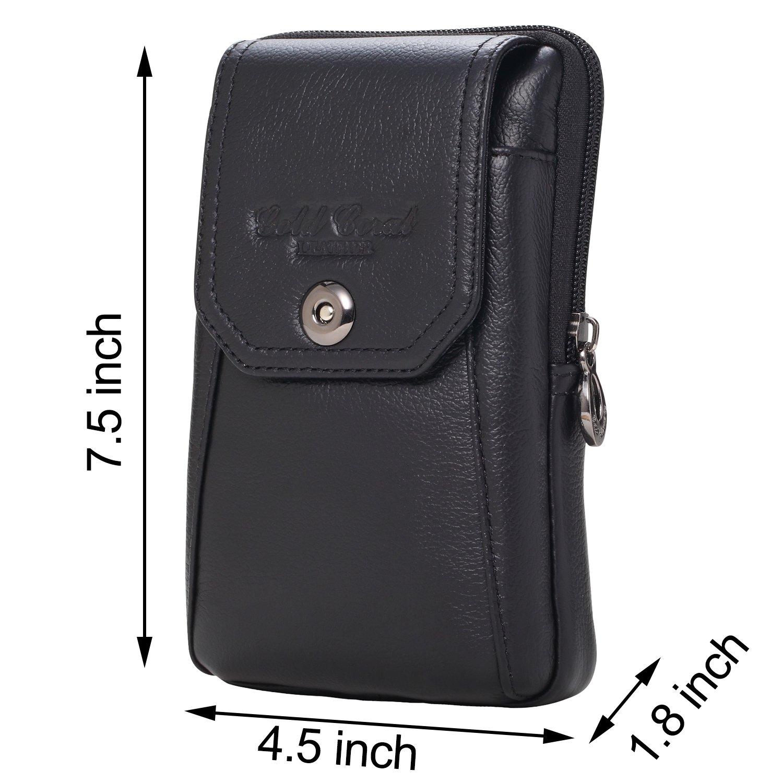 c4f5e036caae Men Genuine Leather Cellphone Waist Bag Purse Wallet Belt Loop Holster Case  Belt with a Clip