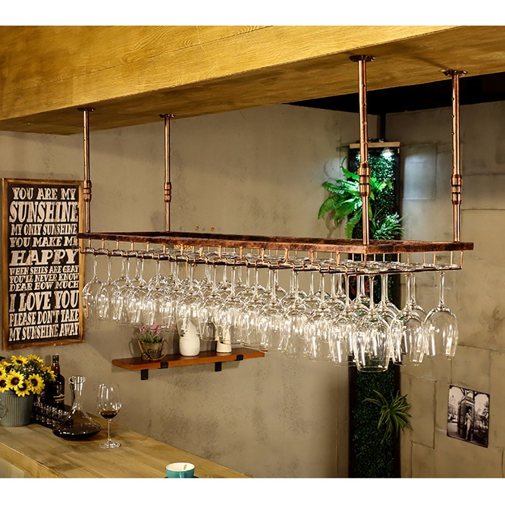 Fer rétro style industriel bar restaurant suspendu porte-gobelet bar décoration casiers à vin porte-gobelet porte-