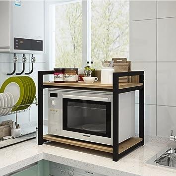 ILQ Küche Multifunktionale Regal Holz Mikrowelle Regal Küche Ofen ...