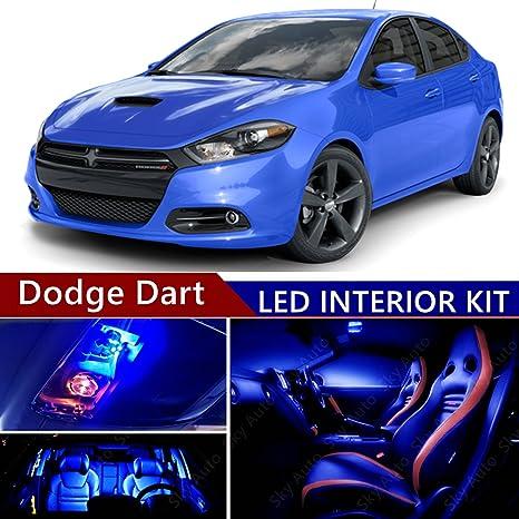 Dodge Dart 2013 2016 LED Premium Blue Light Interior Package Kit ( 13 Pcs )