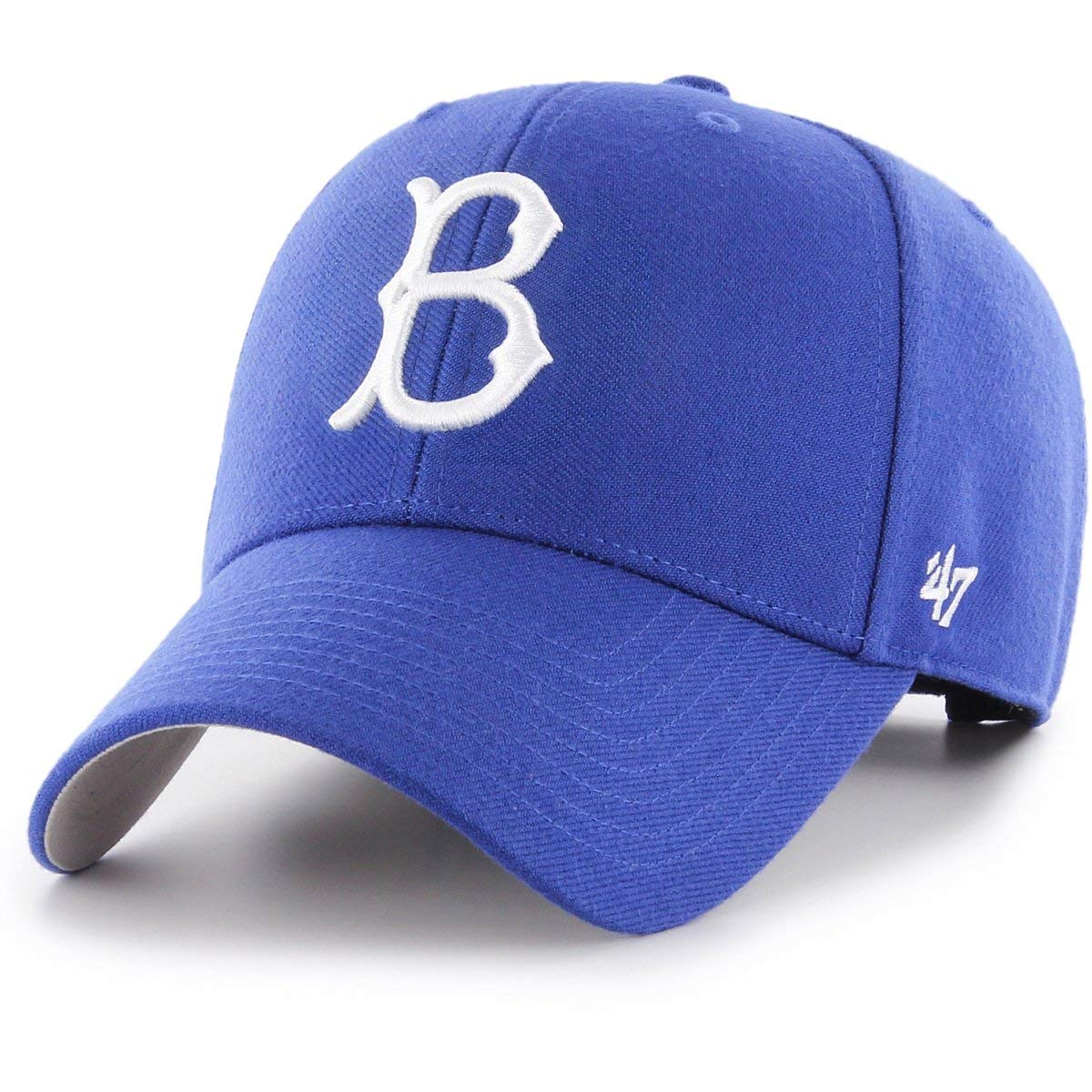 451062bbc10b5 Amazon.com    47 Authentic Brooklyn Dodgers Cooperstown Blue MLB Adjustable  - MVP   Sports   Outdoors