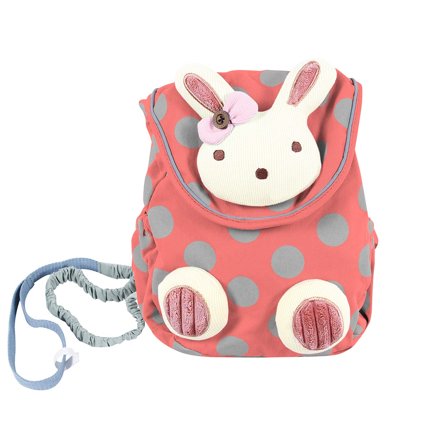 Labebe Girl Backpack with Harness, Pink Bunny Backpack with Anti-lost Leash for Baby 1-3 Years, Pink Backpack/Baby Girl Bag/Baby Girl Backpack/Pink Toddler Backpack/Girl Toddler Backpack/Baby Food Bag HY2014WXCG-172-2