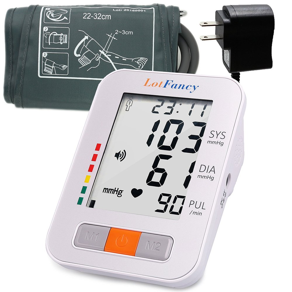 LotFancy Blood Pressure Monitor, Talking Function, 180 Readings 2-User Mode, 9-13'' Upper Arm Cuff (FDA Approved)