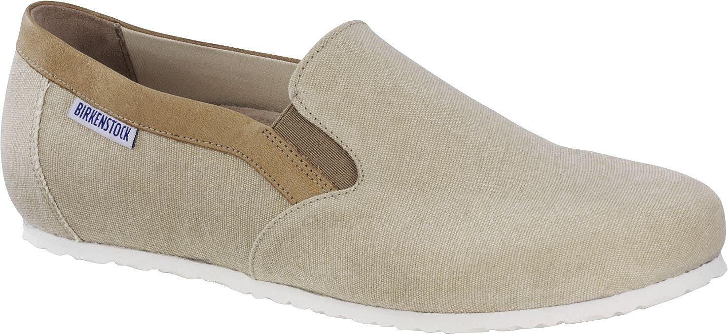 Birkenstock - Mocasines de Material Sintético para Mujer Beige Arena: Amazon.es: Zapatos y complementos