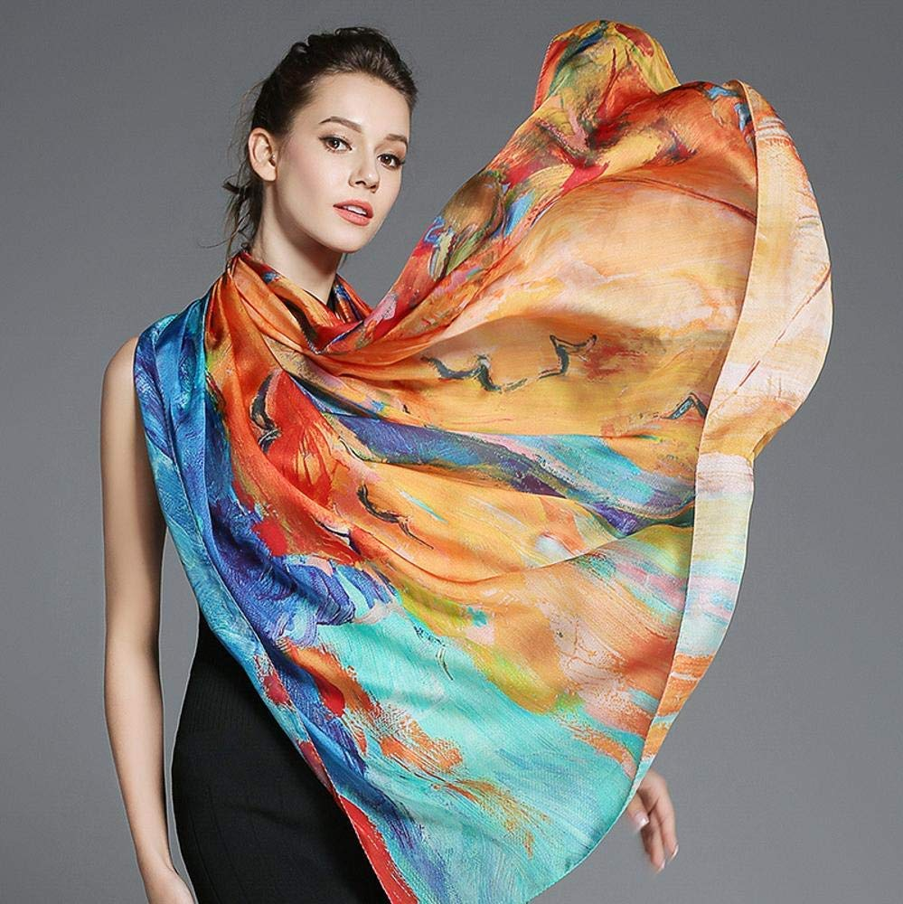 Bronze Paioup Ladies silk shawl silk scarf send friends and family birthday gift Perfectly expresses unique temperament