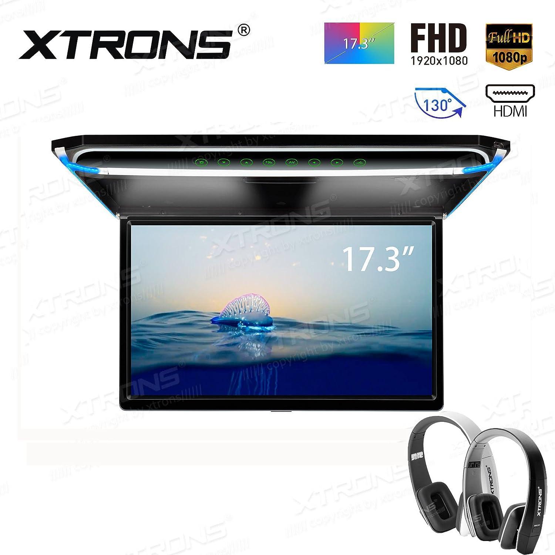 XTRONS 17.3インチ16 : 9超薄型FHDデジタルTFT画面1080pビデオ車オーバーヘッドPlayer屋根マウントモニターHDMIポート19201080フルHigh Definition ブラック CM173HD+DWH005+DWH006 B07881D53F CM173HD+DWH005+DWH006 CM173HD+DWH005+DWH006