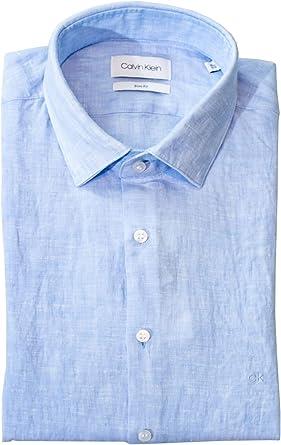 Camisa Celeste clásica: Amazon.es: Ropa