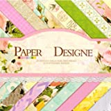 Vishal Pattern Design Printed Papers for Art & Craft, Decorative Greeting Cardmaking & Scrapbooking (Set of 40 Sheets) (VS8007)