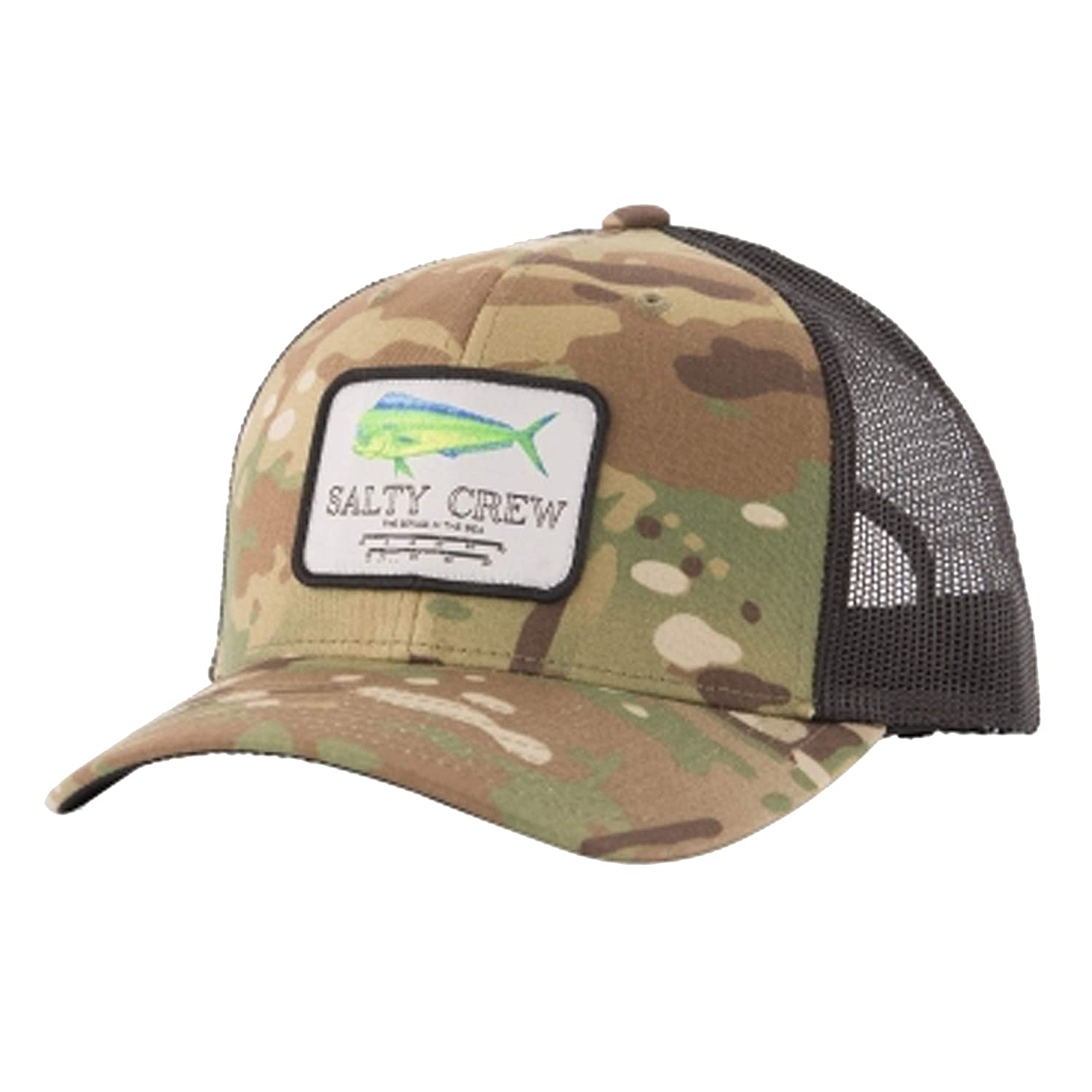 purchase cheap ca45a 9be4c Amazon.com  Salty Crew Men s Mahi Mount Retro Trucker Hat, Multicam Green  (MLTICMGRN), One Size  Clothing