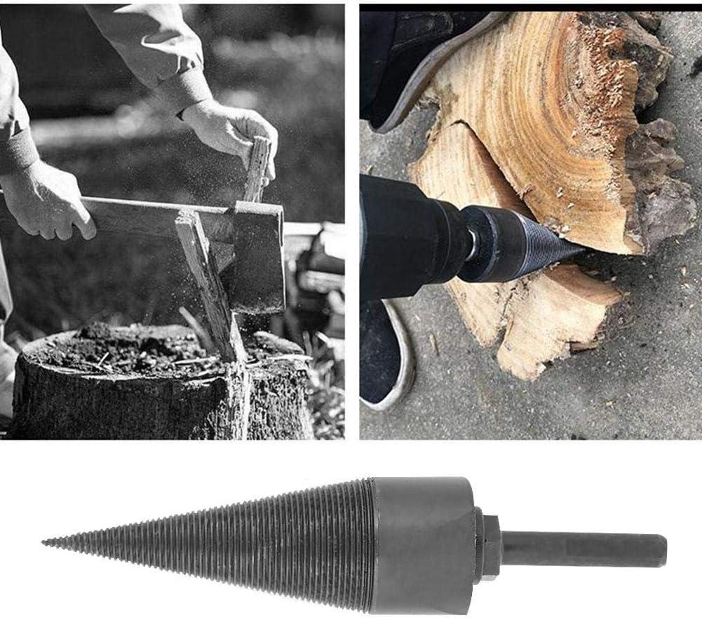 Foret de fendage de bois de chauffage accessoires de perceuse de fendeuse de b/ûches de bois