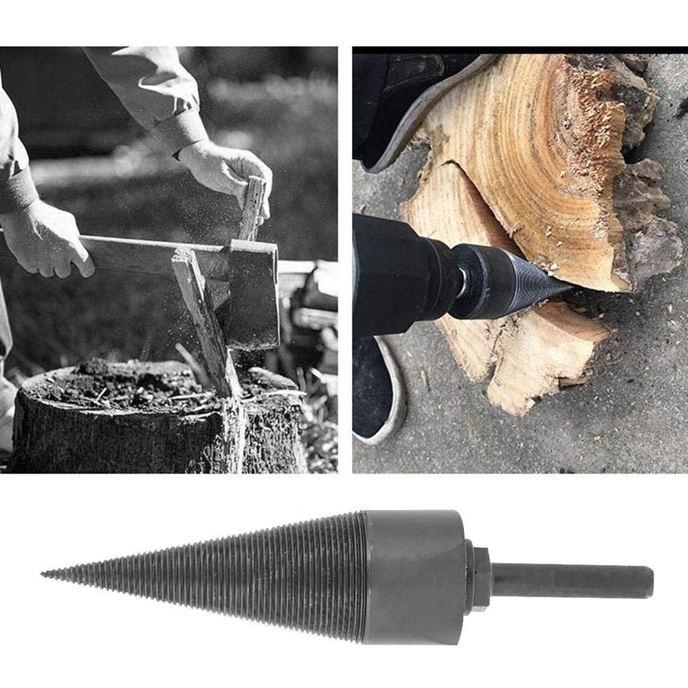 Foret /à Bois de Chauffage Tr/épan SDS Foret de C/ône en Acier au Vanadium Diviseur de Bois de Chauffage de M/énage pour Perceuse /Électrique
