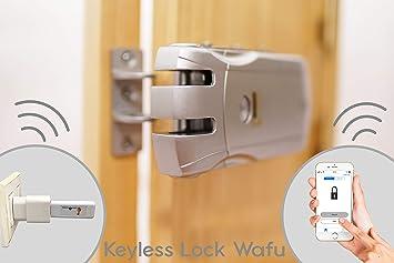 Keyless Lock Wafu Cerradura electrónica inteligente 4 mandos +USB ...