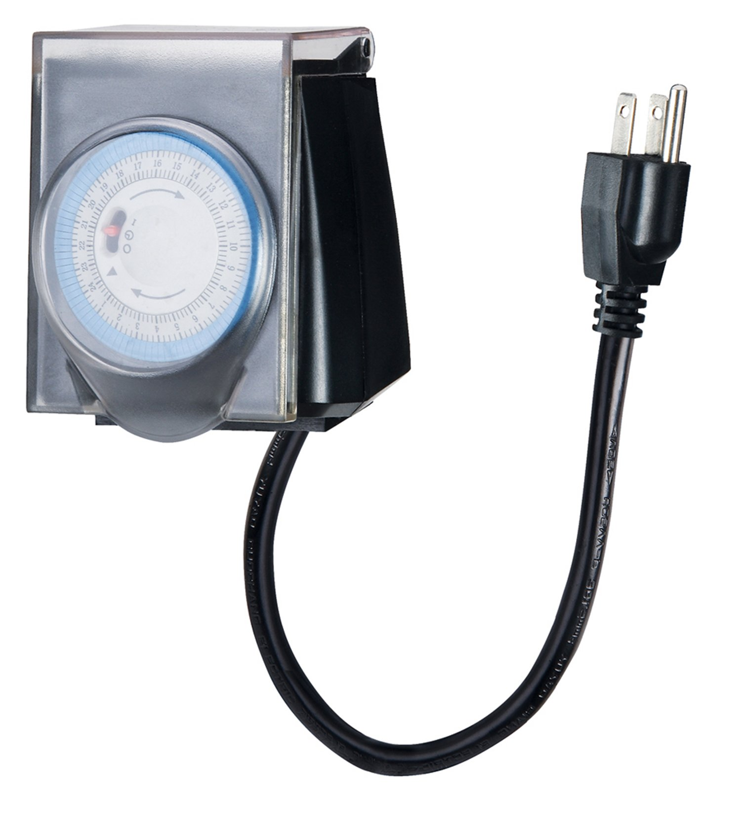 Outdoor Minute Electric Digital Christmas Lights Timer with Waterproof Safety Cover