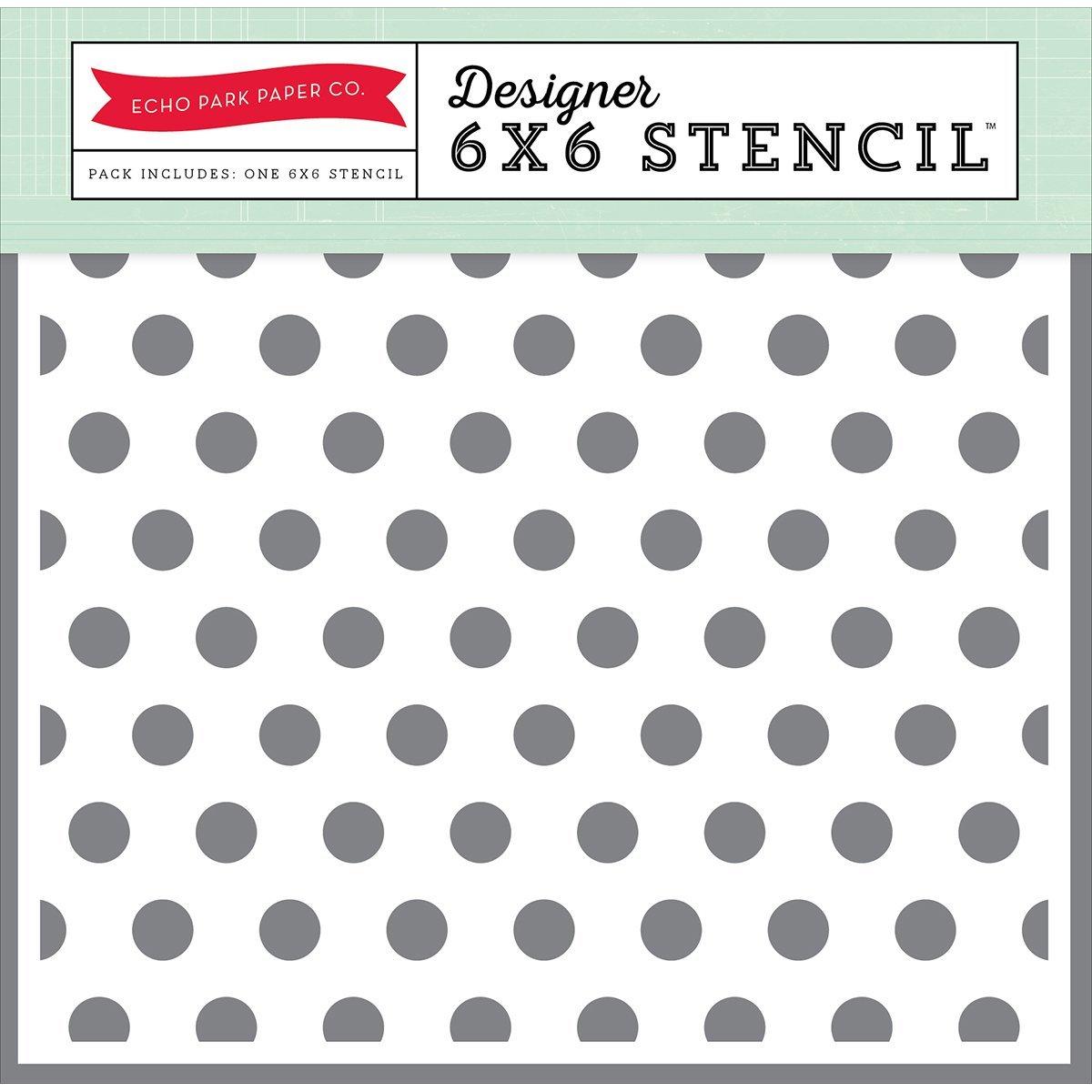 Echo Park Paper Company MA109036 Polka Dot #2 Stencil