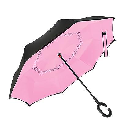 Amazon.com: Bravo paraguas invertido doble capa coches ...