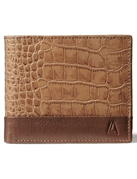 90d44dd85679 Leather Architect Men's 100% Leather RFID Blocking Classic Trifold Wallet  With 12 Credit Card Slots