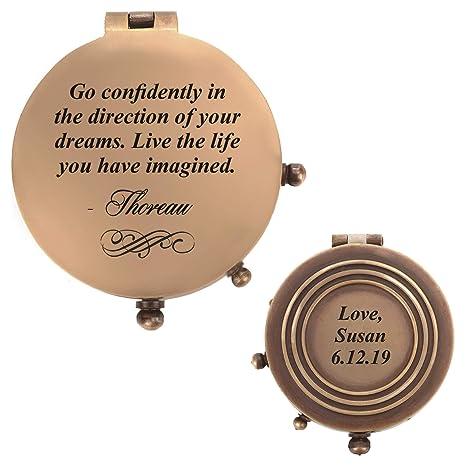 Amazoncom Personalized Pocket Compass 6 Designs Inspirational