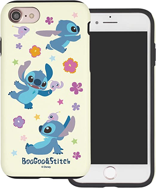 WiLLBee Compatible with iPhone 8 Plus/iPhone 7 Plus Case Layered Hybrid [TPU PC] Bumper Cover - Stitch & Boogoo