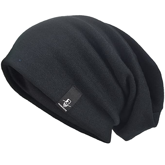 VECRY Men s Oversize Slouch Beanie Slouchy Skullcap Large Baggy Hat (Black-1)  at Amazon Men s Clothing store  60d723505c2