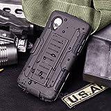 LG Nexus 5 Coque, Cocomii Robot Armor NEW [Heavy Duty] Premium Belt Clip Holster Kickstand Shockproof Hard Bumper Shell [Military Defender] Full Body Dual Layer Rugged Cover Case Étui Housse Google D820 D821 (Black)